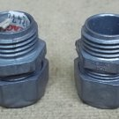Compression Connectors for 1/2in Conduit Lot of 2
