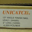 Unicatch UDA21 15* Angle Finish Nail 2in Qty 2000 Metal