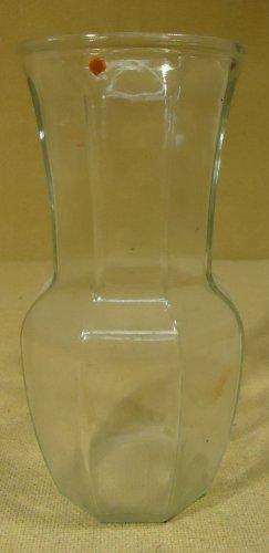 Flower Vase 9 1/2in 5in x 5in Clear Glass
