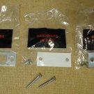 Door Strike Plate with Hardware 2 3/4in x 1 1/4in Metal