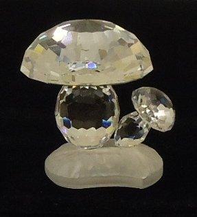 Swarovski Mushrooms 1 1/2in x 1 1/2in x 1 1/2in Crystal