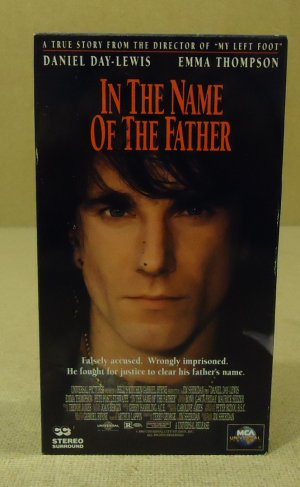 MCA Universal In The Name Of The Father VHS Movie  * Plastic Paper