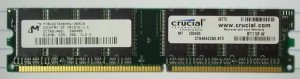 Crucial 512MB PC2100 DDR-266MHz CL2.5 184-Pin DIMM * MT8VDDT6464AG-265CB Plastic *