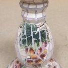 Handmade Mosaic Pedestal 12in x 6 1/2in x 6 1/2in  * Terra Cotta Tile