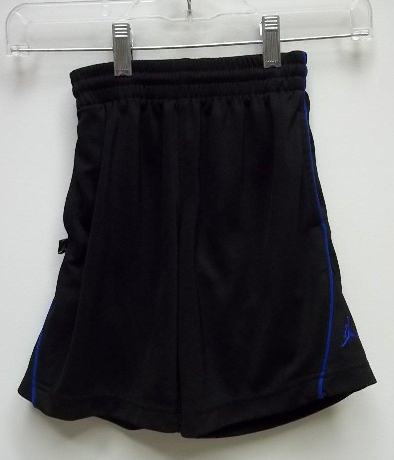 Haddad Apparel Shorts Polyester Male Kids 5T Black/Blue Solid w/ Stripes 05-012Q