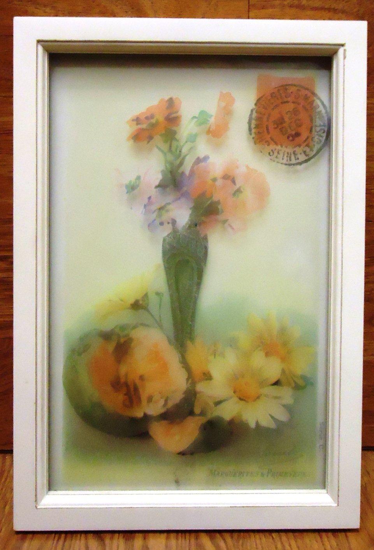 Generic Framed Art 14in x 9 1/2in x1in 60-57d * Glass Plastic