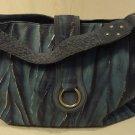 Charlie Lapson Purse Leather Female Adult Baguette Blue/Silver Brushstroke/Snakeskin 46-311-185