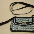Generic Purse Man Made Female Adult Shoulder Clutch Blue/Black Alligator 07-014gg