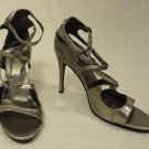 Charlotte Russe Gladiator Strappy Pumps Man Made Female Adult 6 Silver Solid 10-24cr