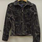Jones New York Coat Cotton Female Adult S Gray  Paisley  XA945