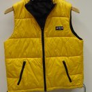 Limited America Puffer Vest Polyester Unisex Adult M Yellow Solid XA785