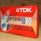 TDK Cassette Superior Normal Bias 90min D90 * Plastic