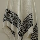 Amira Paris Shawl Scarf Wrap Water Silk Female Adult Standard White/Black Leopard Print BF451