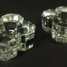 ACC Crystal Taper Candle Holders 3in x 3in x 1 1/2in Qty 2 Vintage Crystal