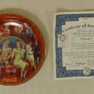 Bradford Exchange 6523A * Coca-Cola Collector Plate 5 3/4in Febuary 1999 Porcelain