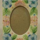 Designer Floral Picture Frame 5in x 6in x 1in 09-15g * Ceramic Glass