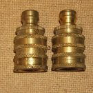 Perfecting Co Quick Release Couplings (2) Pressure Washer Hose 5/8in 00-07t Brass