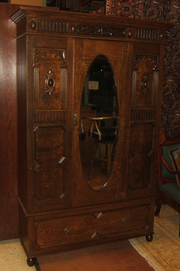 handcrafted bm542d antique armoire english jacobean 19th. Black Bedroom Furniture Sets. Home Design Ideas
