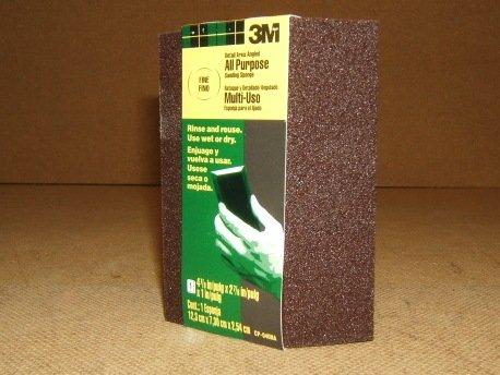 3M Fine Grit Angled Sanding Sponge All Purpose Multi-Use CP-040NA