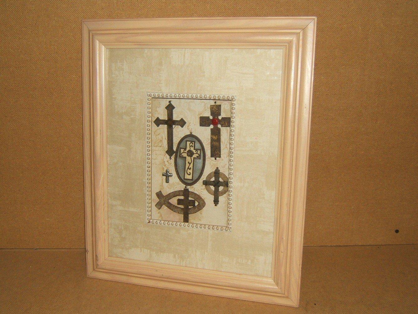 VandePoll Picture Frame Birdhouse 19in x 16in x 3in Whitewash/Beiges Folk