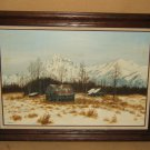 Original Vintage Painting Framed 36in x 24in Gronewald Landscape Oil on Canvas