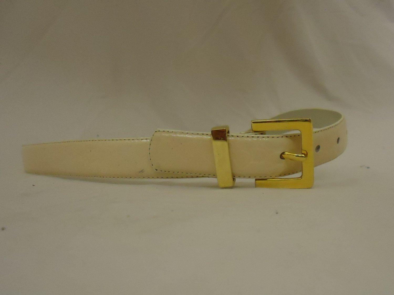 Belts West Belt 30in-34in Brass Buckle Leather Female Adult M/L Beiges