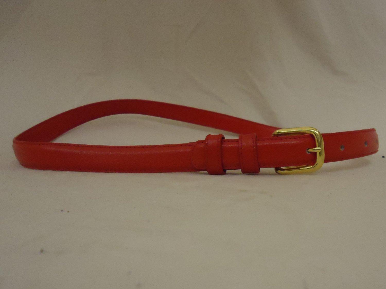 Designer Belt Casual 28in-32in Split Leather Brass Female Adult M/L Solid