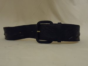 FOB Trading Belt 28in-32in Casual Leather Female Adult M/L Blacks Solid