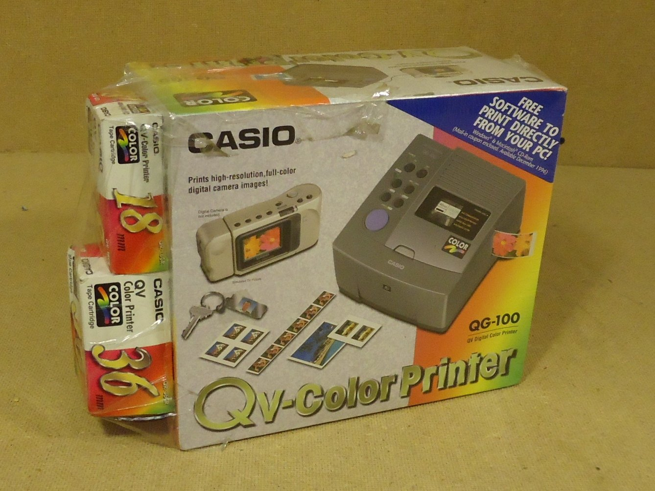 Casio QV Digital Color Printer Gray Thermal QG-100 Plastic