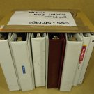 Professional Box of 12 Binders/Notebooks 16in x 12in x 11in White/Burgundy