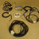 Standard Lot of Coaxial Cables 24in & Up Black/Grey/White Plastic