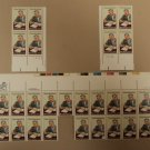 USPS Scott 1875 15c 1980 Whitney Moore Young Lot of 3 Mint NH Plate Block