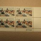 USPS Scott 1243 5c 1963 CM Russell American Artist Plate Block 4 Stamps Mint NH