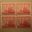 USPS Scott 736 3c Maryland Tercentenary 1634-1934 Mint NH OG 4 Stamp Block