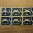 USPS Scott C51a 7c Air Mail Silhouette of Jet Mint NH OG 1958 Booklet 6 Stamps