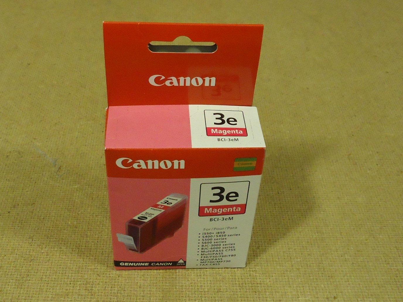 Canon Printer Cartridge Magenta Genuine OEM BCI-3eM Ink