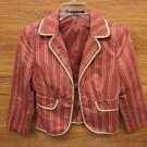 Express Design Studio Blazer Female Adult Standard Reds Striped