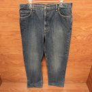 Lands' End Jeans Relaxed Cotton 100% Male Adult 37 Blues Solid