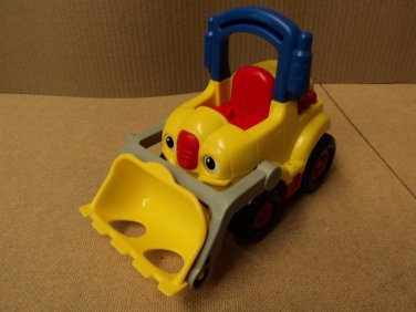 Fisher Price Bulldozer 5in W x 9in L x 7in H Yellow/Red/Black Plastic