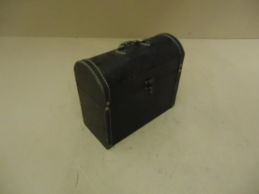 Designer Décor Box With Handle 4in L x 9in W x 8in H Black/Brown Contemporary