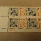 USPS Scott C58 15c Liberty For All 1959 Statue of Liberty Plate Block Mint NH
