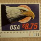 USPS $8.75 USA Express Mail Eagle Moon 1988 Mint NH Stamp With Plate Number