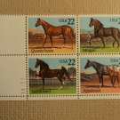 USPS Scott 2155-58 22c Horses Mint NH Plate Block 4 Stamps