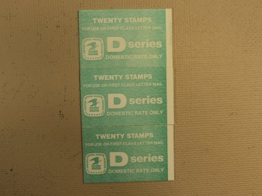 USPS Scott 2113a D Series 22c 1985 Eagle 3 Books Of 20 60 Stamps 6 Panes