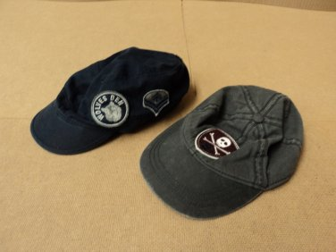 Place Hats Baseball Lot Of 2 Cotton 100% Male Kids 2-4 3T Blacks Solid