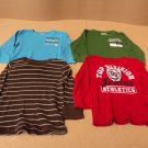 Place Shirts Lot of 4 Cotton 60% Polyester 40% Male Kids 3T Multi-Color Solid