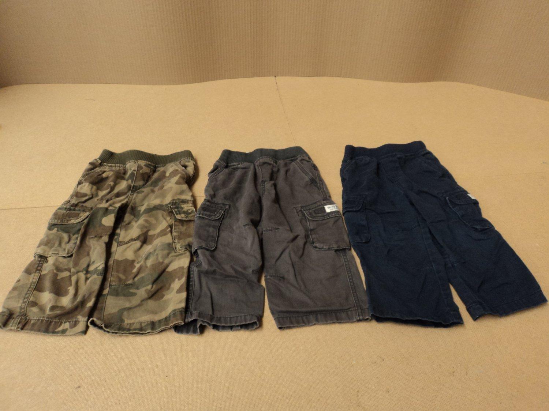 Place Pants Lot Of 3 Cotton 100% Male Kids 2-4 24 months Multi-Color