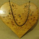 Handcrafted Wall Key Holder 10in W x 9in H x 1in D Woodtone Heart Shaped Wood