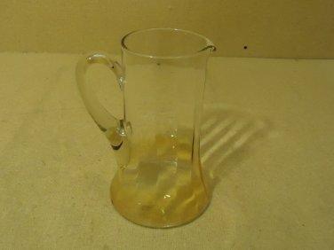 Standard Glass Pitcher 9in H x 5 3/4in Diameter Amber Glass