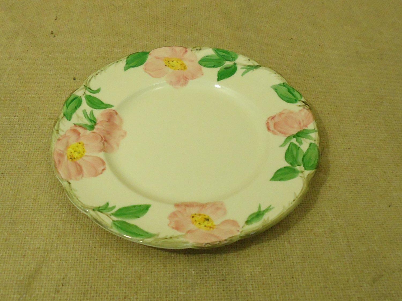 Franciscan Vintage Salad Plate 8in Floral Desert Rose USA Earthenware